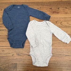 Carter's Long Sleeve Bodysuits Onesies Bundle